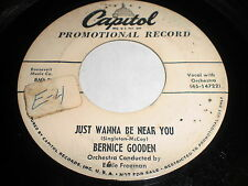 Bernice Gooden: Just Wanna Be Near You / What Did I Do To You 45 - Blues R&B