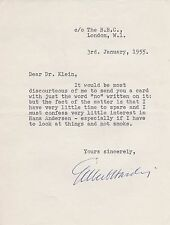 BBC Radio GILBERT HARDING 1955 TYPICALLY ACERBIC SIGNED LETTER - What's My Line?