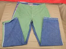 Parasuco Ergonomic Jeans Green Front Blue Rear Size 40 X 34