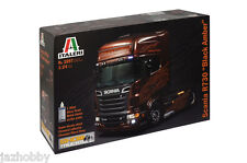 Italeri 3897 1/24 Scale Show Truck Model Kit Scania R730 Black Amber V8