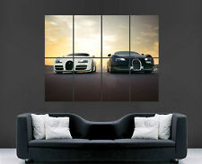 BUGATTI VEYRON POSTER TRACK RACING ART CAR FAST IMAGE LARGE WALL PICTURE