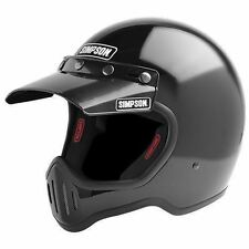 SIMPSON M50 MOTORCYCLE HELMET DOT APPROVED GLOSS BLACK XL EXTRA LARGE 62cm 7 3/4
