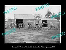 OLD LARGE HISTORIC PHOTO OF BERMAGUI NSW, THE SINCLAIR BLACKSMITH STORE c1900