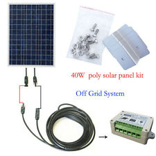40W Off Grid Complete Kit 40W Solar Panel for 12Volt System Home Battery Charger