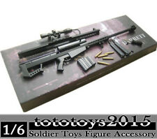 1/6 Metal Barrett M82A1 Sniper Rifle Gun Weapon Weapon Arms Toys Model Figure