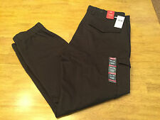 $69.50 Levi's Banded Cargo Slim Fit Jogger Pants Brown Elastic Cuff  36 X 30