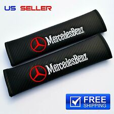 MERCEDES-BENZ CARBON SHOULDER PADS SEAT BELT 2PCS - US SELLER SC09