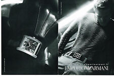 PUBLICITE ADVERTISING 114  2008  EMPRORIO ARMANI  montre homme ( 2pages)