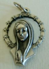 Modernist Virgin Mary Crowned with 12 Stars Holy Medal Marked Italy