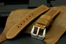 SV Veg Light Brown Italian Cow Leather 26mm Panerai Watch Strap Band+GPF Buckle