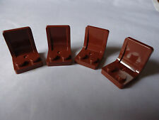 LEGO NEW PART 4079 LEGO BROWN MINIFIG SEATS x 4