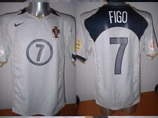 Portugal luis figo madrid nike shirt jersey football soccer adulte l euro 2004 a