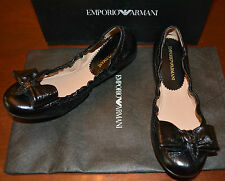 NIB EMPORIO ARMANI LEATHER FLATS SHOES  SZ US 7.5 EU 38 $445