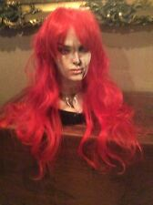 Loiita Long Curly Red Sexy Fashion Party Synthetic Wig #113