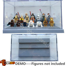 Grey lego minifigure display case For Star wars Batman Movie figures 71017 75131
