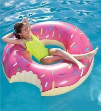 Giant Pink Donut Pool Float Swim Beach Inflatable Summer Fun Accessories