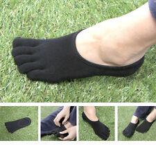 3 Paar Herren Socken Schwarz Zehensocken Vibram FiveFingers FILA Skele Schuhe