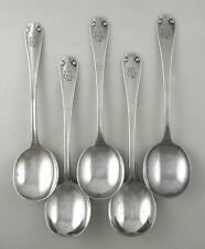 Sterling Tiffany & Co. FLEMISH gumbo spoons - set of 5 (1911)