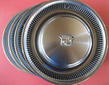 1974-1975-1976 Cadillac Deville Lot Of 4 Hub Caps Wheel Covers 15 Inch Made D