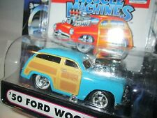 1 Muscle Machine '50 ford woody BLUE   funline custom blower 1:64 scale maisto