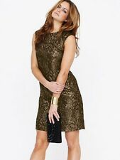 Teatro Metallic Tunic Dress Size 8 Black / Gold RRP £59.00 Box170 i