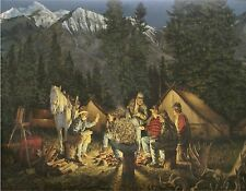 HUNTING CAMP #1  MOUSE PAD  IMAGE FABRIC TOP RUBBER BACKED