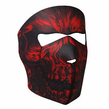 Red Black Shredder Skull Neoprene Face Mask ATV Ski Biker Reversable Costume