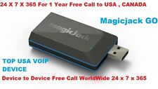 Magic Jack Go Latest model VoIP 1 Year Free Phone Service Subscription free App