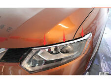 Chrome front head light Eyebrow cover trim for Nissan Rogue X-Trail 2014-2016