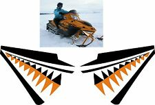 ARCTIC CAT crossfire m6 m8  M F 1000 T660 shark nose cone teeth DECAL STICKER 2