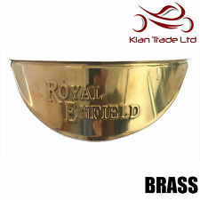 "ROYAL ENFIELD BRASS HEADLIGHT LAMP SHADE VISOR 7"" - BRAND NEW"