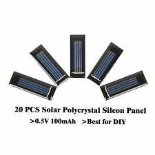 20PC 0.5V 100mAh mini solar polycrystal panel solar cells solar accessories