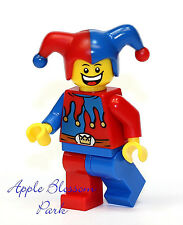 NEW Lego Court JESTER Minifig w/Red & Blue Hat - Castle Kingdoms Minifigure 7079