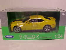 2013 Chevy Camaro ZL1 Coupe Die-cast Car 1:24 Yellow by Welly 8 inch 2012