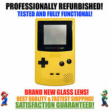 *NEW GLASS SCREEN* Nintendo Game Boy Color GBC Dandelion Yellow System