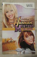 Nintendo Wii - Hannah Montana the movie (Manual only)
