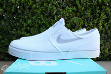 NIKE SB ZOOM STEFAN JANOSKI SLIP ON CANVAS SZ 9 WHITE WOLF GREY 831749 100