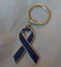 ***NEW***  Colon / Bowel  Cancer Awareness ribbon enamel keyring.Charity, badge.