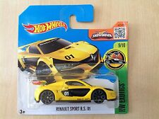 Hot Wheels New Toy Model Car 9/10 Renault Sport R.S. 01 Yellow & Black Sealed