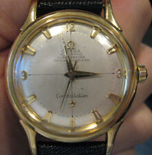 OMEGA 18K Gold Constellation Automatic Original Pie Pan Dial Circa 1950's