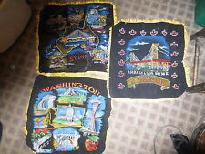 vintage black velvet painted souvenier travel pillow covers Sydney Washington St