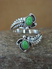 Native American Indian Jewelry Sterling Silver Gaspeite Adjustable Ring!