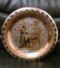 Egytpian Brass Plate, Pharaoh?  Nice, Made in Egypt