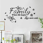 Decal Poetry Removable Wall Sticker DIY Vinyl Room Mural Decor Art Quote Home