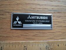 Mitsubishi Metal Display Plaque Diecast Lancer 1/18 1/24 1/43 Autoart Tamiya