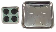 """Large 10.5""""x 11.5"""" MAGNETIC STAINLESS STEEL MAGNETIC PARTS TRAY DISH"""