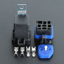 Free shipping2 setsWaterproof integrated 12v40A 4pin auto relay and relay holder