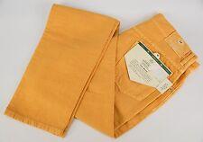 NWT LUIGI BORRELLI Yellow Cotton Blend Denim 5 Pocket Jeans 32x36