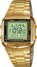 CASIO GOLD TONE DATA BANK MEN'S  DB360G-9A WRIST WATCH