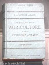 PRONTUARIO DELL AGRICOLTORE E DELL INGEGNERE AGRARIO V Niccoli A Fanti Hoepli di